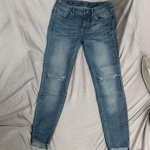 The Chelsea skinny ripped denim jeans